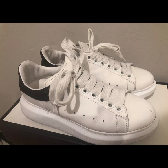 6052d982253aa Alexander McQueen Shoes | White Sneakers Us Women Size 8 | Poshmark